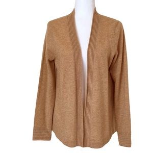 Cashmere Charter Club Luxury Open Front Cardigan M